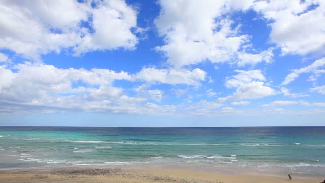 vídeos de stock e filmes b-roll de bela vista do mar, oceano vídeo em hd - cena de tranquilidade