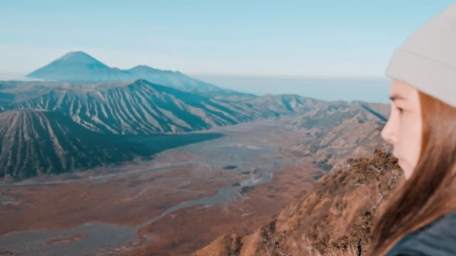 beautiful of mt.bromo, indonesia in the morning - mount bromo stock videos & royalty-free footage