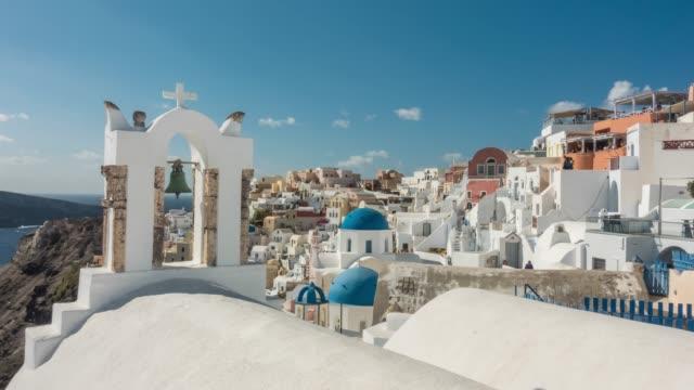 Beautiful Oia town on Santorini island