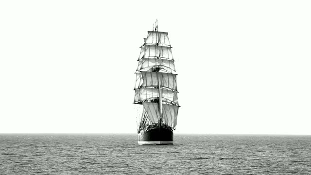 beautiful old sailing ship - cruising stock videos & royalty-free footage