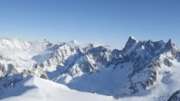 beautiful panoramic scenery view of europe alps mont blanc landscape from the aiguille du midi chamonix france