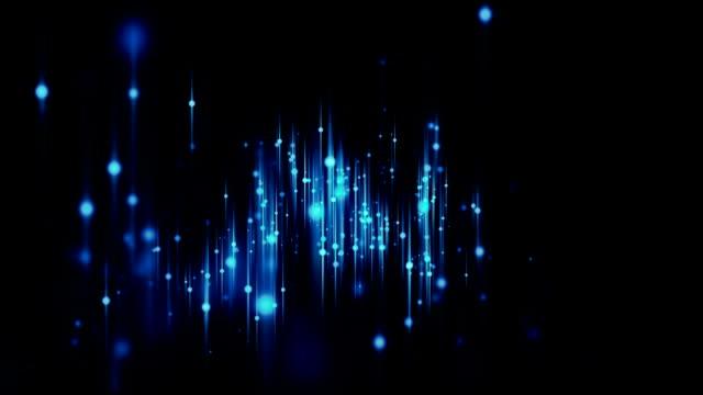 Schöne Partikel tanzen Schleife