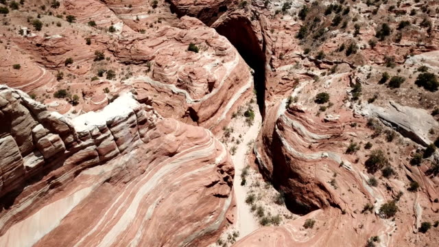 亞利桑那州沙漠峽谷中岩石的美麗圖案 - 岩層 個影片檔及 b 捲影像