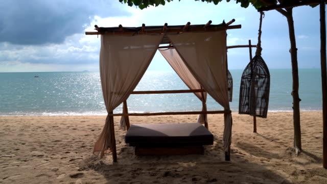 beautiful pavilion on beach