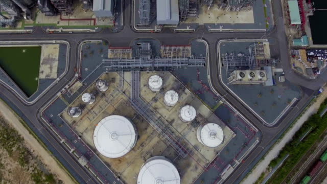 Beautiful Petroleum Refinery  Plant with Complex Pipeline.