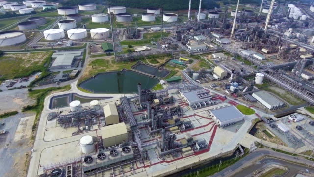 beautiful petroleum refinery  plant with complex pipeline. - anatomical valve stock videos & royalty-free footage