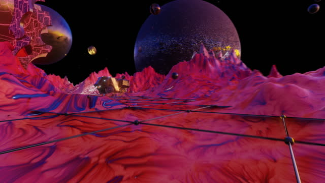 beautiful planet. 80s fluorescent visual background - maroon stock videos and b-roll footage