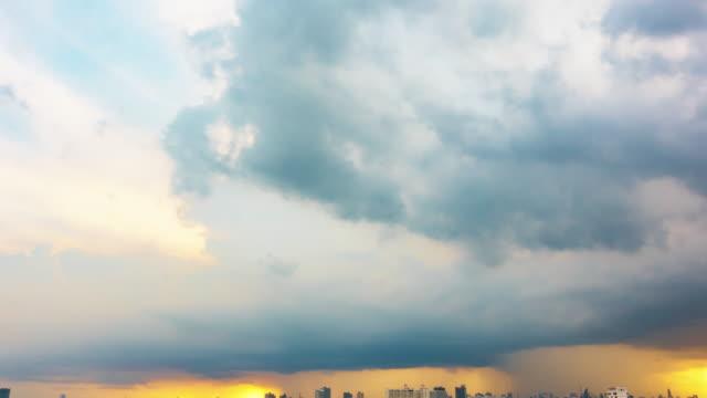 Beautiful rainstorm and grey clouds