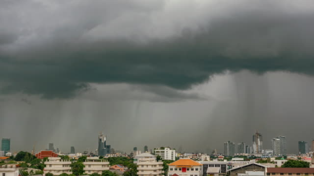 beautiful rainstorm grey clouds. - bangkok stock videos & royalty-free footage