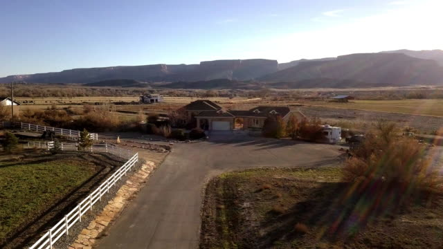 beautiful ranch style home - commercial sign stock videos & royalty-free footage