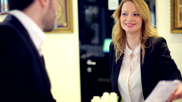 Beautiful receptionist
