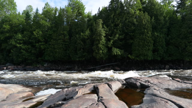 Beautiful River Nature Landscape, Quebec, Canada