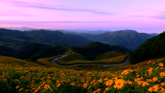 Beautiful road on the mountain in Mae Hong Son, Thailand