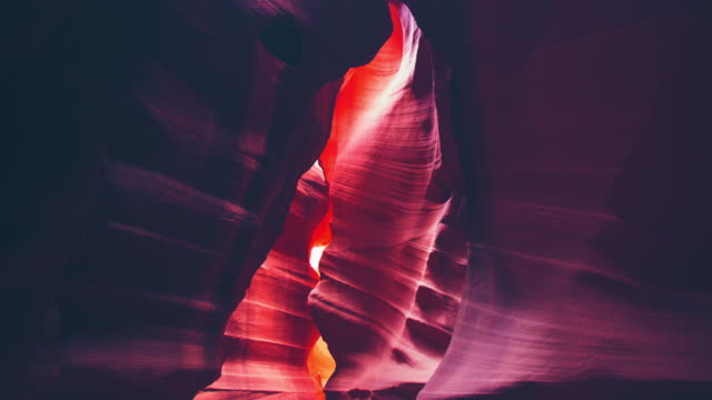 ws beautiful rock formations of antelope canyon - red rocks stock-videos und b-roll-filmmaterial