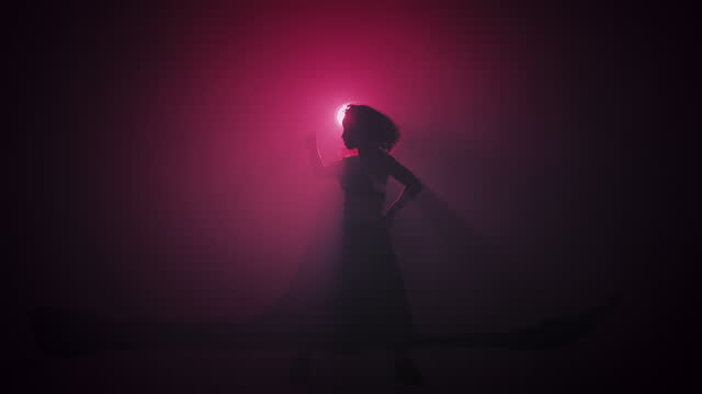 vídeos de stock e filmes b-roll de beautiful salsa dance move. - dark