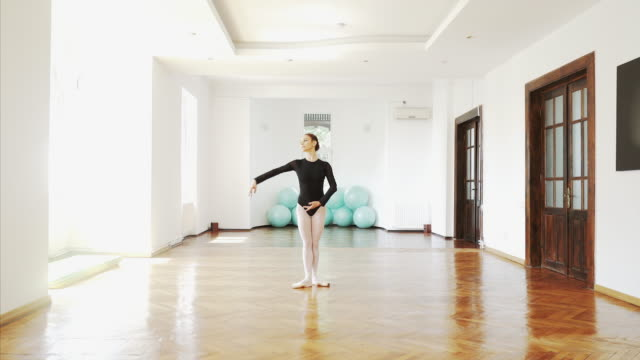 beautiful scene of a talented ballerina. - pantyhose stock videos and b-roll footage