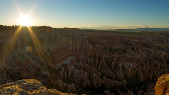 beautiful scene of bryce canyon national park against sky - ブライス峡谷点の映像素材/bロール