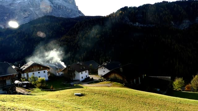 Beautiful scene of Dolomite Alps in Italy