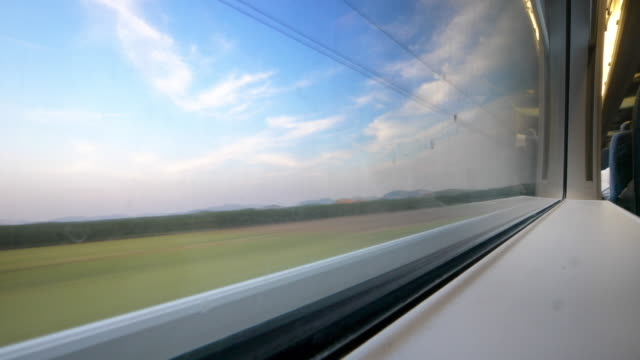 beautiful scene out of window - high speed train stock videos & royalty-free footage