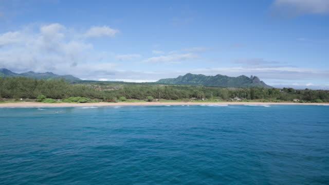 schöne landschaftliche aerial video von einem tropischen strand - rückenflosse stock-videos und b-roll-filmmaterial