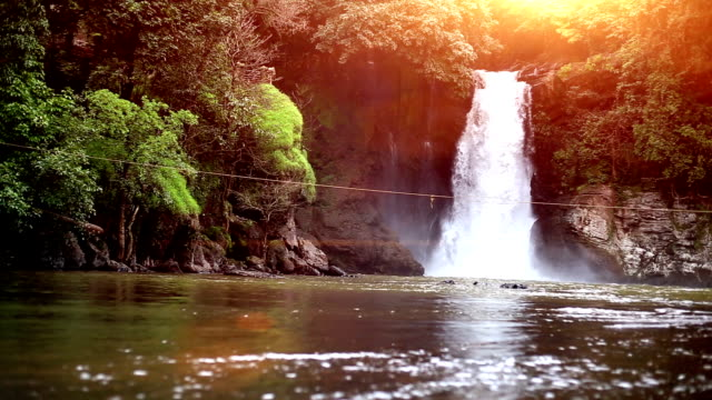 beautiful scenic view of waterfall in the nature, goa - goa stock videos & royalty-free footage