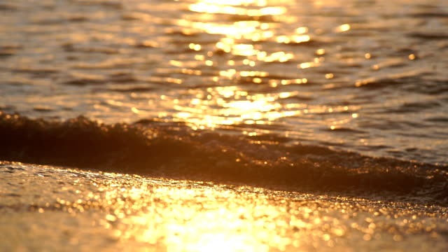 Beautiful seamlessly waves on the beach.