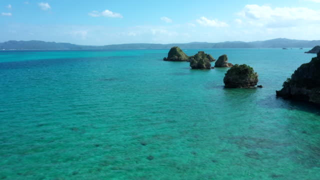 beautiful seascape and horizon - okinawa prefecture stock videos & royalty-free footage