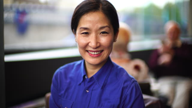 A beautiful senior Korean woman.