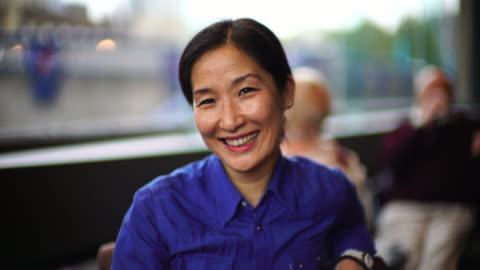a beautiful senior korean woman. - mature women stock-videos und b-roll-filmmaterial