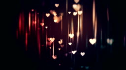 Beautiful shiny background with hearts loop