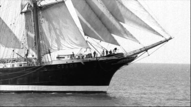 beautiful ship under sail - sailing ship stock videos & royalty-free footage