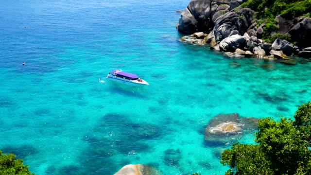 Beautiful Similan andaman sea with crystal-clear water, Phuket, Thailand