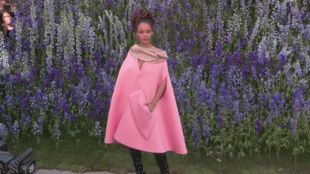 vidéos et rushes de beautiful singer rihanna attending the dior spring summer 2016 fashion show in paris she posed for the photographers during the official photocall... - 2015