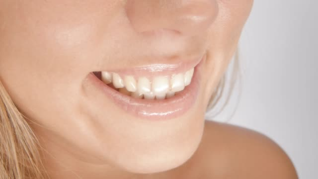 beautiful smile - teeth whitening stock videos and b-roll footage