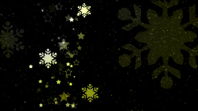 Beautiful snow crystals loopable Christmas background