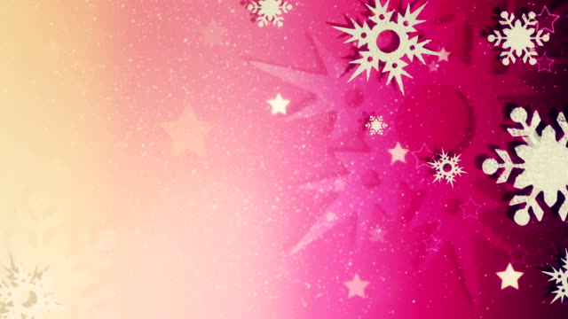 beautiful snow crystals loopable christmas background - december stock videos and b-roll footage