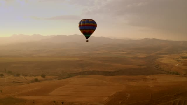 beautiful south africa- hot air ballooning - travel destinations video stock e b–roll