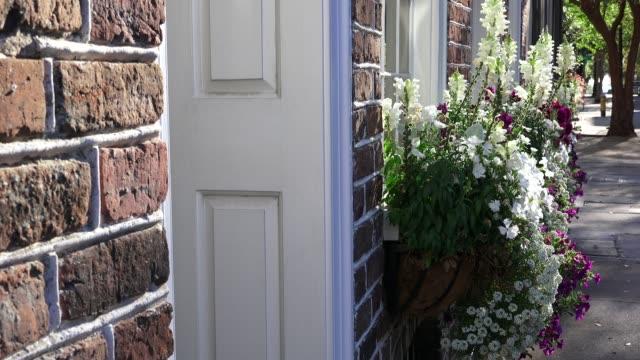 beautiful spring am in charleston, sc. - window box stock videos & royalty-free footage