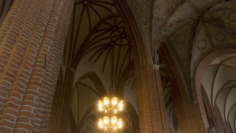 beautiful storkyrkan church lights and ceiling - religion stock videos & royalty-free footage
