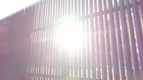 beautiful sunlight through the fence - border stock videos & royalty-free footage