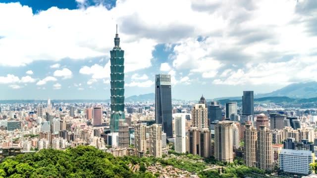 beautiful sunny day in taipei city, taiwan - taipei 101 stock videos & royalty-free footage
