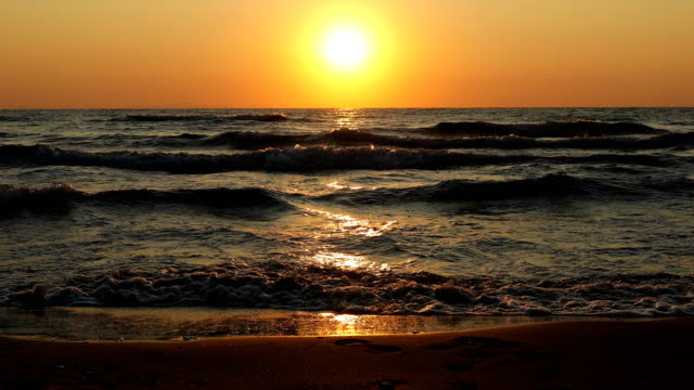 beautiful sunrise above the sea - audio available stock videos & royalty-free footage