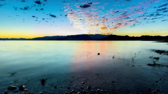 Beautiful Sunrise at desert lake