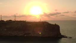 Beautiful sunrise over cape Kaliakra in Bulgaria