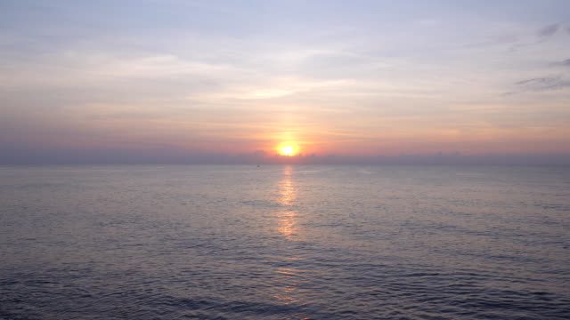 beautiful sunrise over the sea - sunset stock videos & royalty-free footage