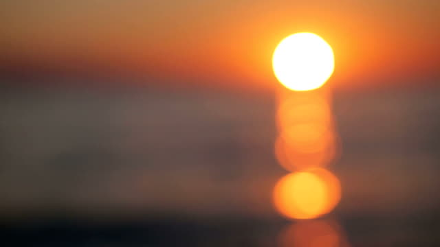 beautiful sunrise over the sea - florida usa stock videos and b-roll footage