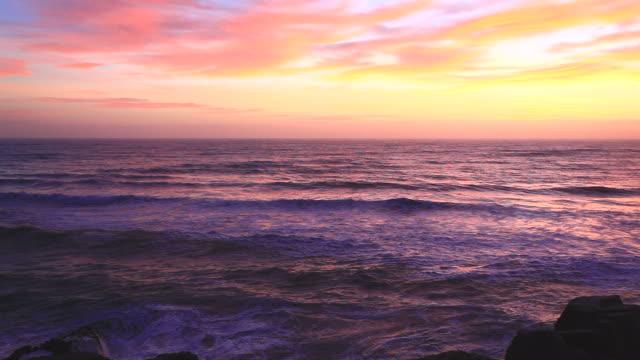 Beautiful Sunset at beach New Zealand