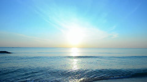beautiful  sunset at the tropical beach - audio available stock videos & royalty-free footage