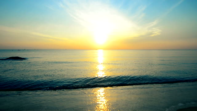 beautiful sunset at tropical in south thailand - toned image stock videos & royalty-free footage