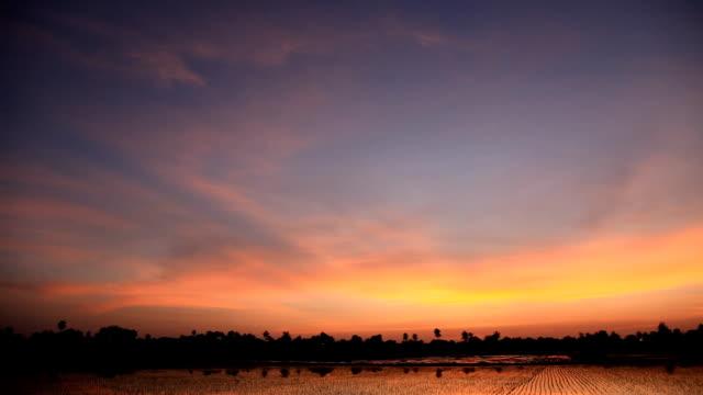 beautiful sunset cloud during sunset twilight - land stock videos & royalty-free footage